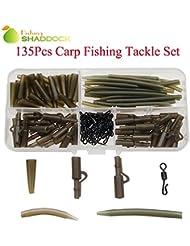 Shaddock Fishing 135PCS Carp Fishing Terminal Safety lead clip set carp fishing Roll Swivel Tackle by Shaddock Fishing