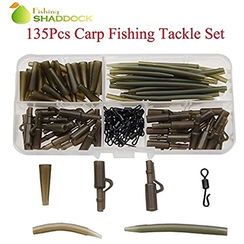 Shaddock Fishing 135pcs Carp Fishing Accessories Safety Lead Clips Soft