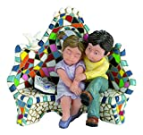 Nadal 784010 Kleine Deko-Figur, Design: Liebespaar auf Bank