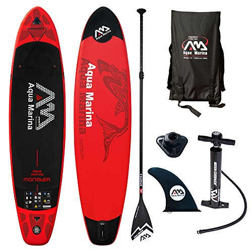 Aqua Marina Monster Modell 2018 12.0 iSUP Sup Stand Up Paddle Board mit Sport II Paddel
