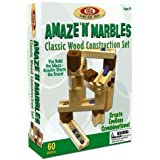 POOF Slinky TPOO-09 60 Piece Amaze N ft. Marbles Classic Wood Construction Set by Poof-Slinky