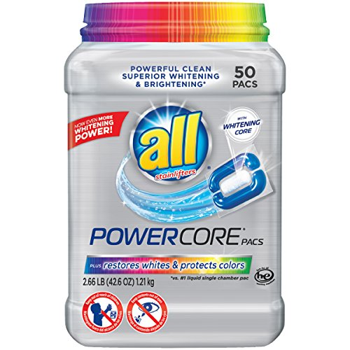 Preisvergleich Produktbild All POWERCORE Super Concentrated Laundry Detergent Pacs Plus Restores Whites and Protects Colors Tub,  50 Count by all