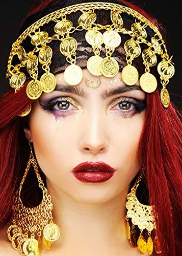 Magic Box Int. Damen Gypsy Princess Gold Coin Headpiece
