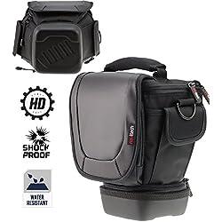 Navitech télescopique DSLR SLR Case Housse pour lentilles jusqu'à 150 mm pour la CANONEOS 80D / 700D / 760D NU / 750D / 760D