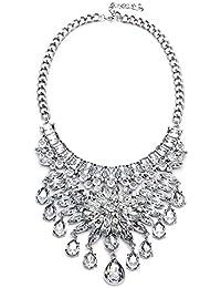 c18cc851abc2 KOMO Joyería Collar Mujer Plata de Ley 925 Colgante Aleación de Joyas  bisutería