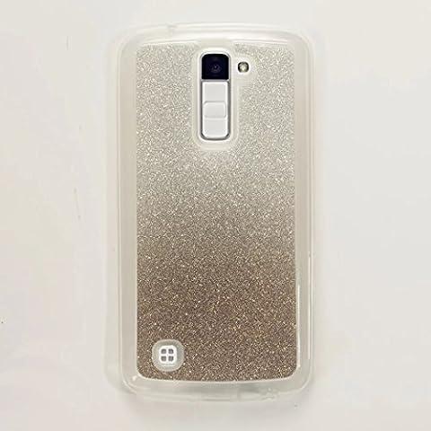 MUTOUREN Coque case pour LG K10 TPU Silicone AntiChoc Etui Housse Coque Case Cas Housse de Protection gradient de couleur -Gradient Black Noir