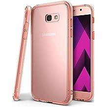 Funda Galaxy A5 2017, Ringke [FUSION] Protector de TPU con Parte Posterior Transparente de PC Carcasa Protectora Biselada para Samsung Galaxy A5 2017 - Cristal Oro Rosa Rose Gold Crystal