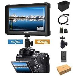 Noir Lilliput A7S-2 7 1920x1200 IPS Ecrans pouces Moniteur sur Caméra Field Monitor 4K HDMI Video DSLR Camera A7 A7R A7S II A6500 GH4 GH5 5D IV 6D 7D 70D 80D Ronin M