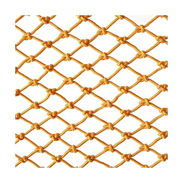 Yellow Child safety net protective net balcony stairs anti-fall net kindergarten color decorative net fence network Width 1/4M Length 1M /9M Hand braided traditional structure (Size : 2 * 4m)  [Protect children's safety]: Many children fall from the building, let us understand that the safety of children can not be ignored. [Polyester knotless woven mesh]: The mesh surface has large pulling force, and the double needle has no knot woven mesh hole, so that the mesh has stronger impact resistance. [wire diameter 4MM, mesh spacing 15CM]: Escort for baby safety.(Others available in our shop) 1