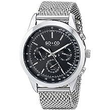 SO&CO New York Monticello Herren-Armbanduhr Analog Quarz Edelstahl - 5006A.1