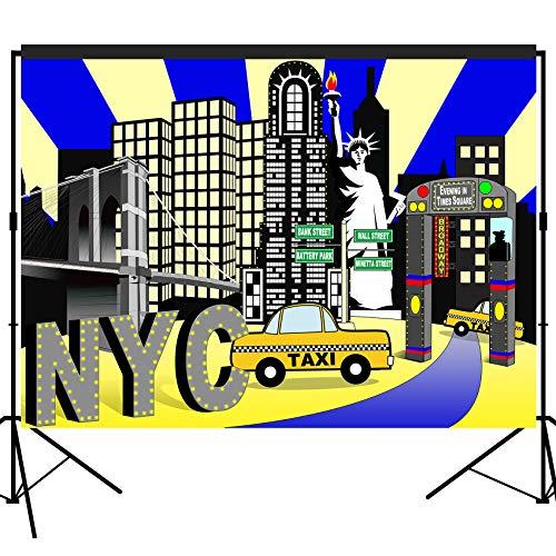 musykrafties New York Times Square Party Kulisse groß Banner Dekoration Dessert Tisch Fotografie Hintergrund Foto Requisite 7x152 cm
