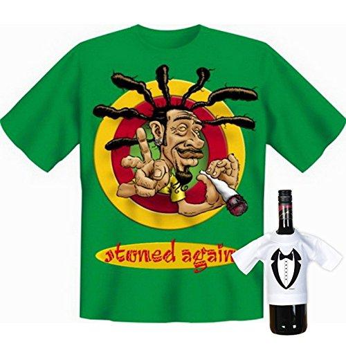 super Auftritt mit collem T-shirt-Set: Farbe: hellgrün + stoned again! + Hell-Grün