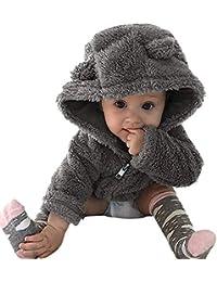 Abrigos Bebé Unisex, K-Youth Ropa para Bebés Niños Niñas Otoño Invierno Suéter con Capucha de Manga Larga Camisa de Abrigo de Felpa Chaqueta Calentito 2018