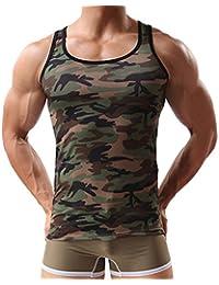 Camoufler Maillot de Corps - Style Militaire Façonnage Tight Débardeur pour sport Homme