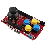 haljia Joystick Tastatur Shield Erweiterungskarte eoard Spiel Joystick Simulation Tastatur und Maus Funktion für Arduino NRF24L015110LCD I2C IIC