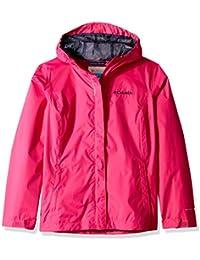 Columbia Niña Chaqueta impermeable, Arcadia Jacket, Nailon, Rosa (Haute Pink),