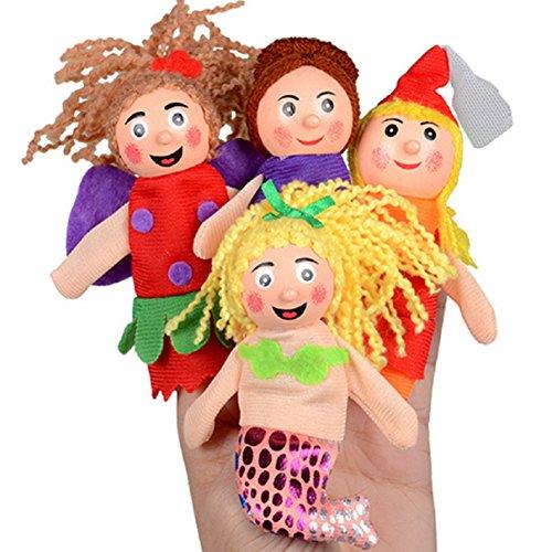 Preisvergleich Produktbild LCLrute 4PCS Finger spielt Handpuppe Weihnachtsgeschenk Puppe Plüschtiere für Kinder, Shows, Spielzeit, Schulen