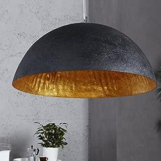 XXL Hängeleuchte Gleam 50cm Ø Gold/Schwarz Küchen u. Esszimmerleuchte - Designer Hängeleuchte von ambientica -