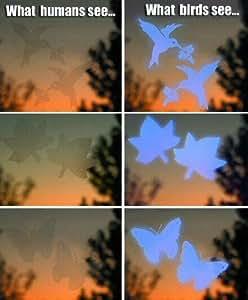 Jacobi Jayne Fenster-Schutzaufkleber für Vögel, 4Stück