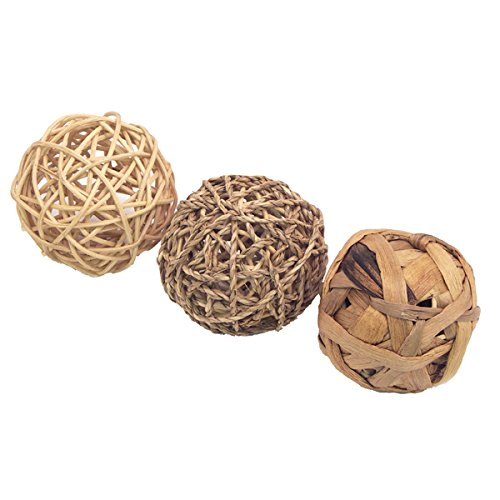 Rosewood Boredom Breaker Small Animal Activity Toy Trio of Fun Balls, Medium