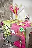 Kamaca 2 er Set Naturfaser - Tischläufer Your Colors Tischband je 5 Meter lang und 30 cm breit tolle Tisch - Dekoration aus Naturfaser - Stoff (Fuchsia)