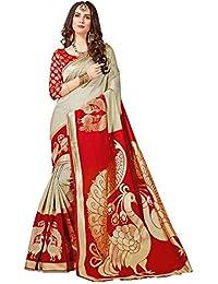 Indira Designer Cotton Saree with Blouse Piece
