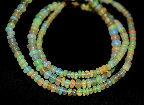 Welo Fire Opal 2,5-4,5mm glatt Perlen Form 40,6cm neclaces ()