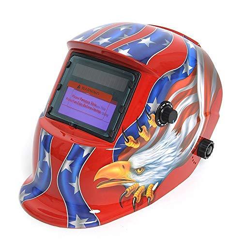 HLDUYIN Solarbetriebener Schweißhelm Auto Darkening Hood Gesichtsschutz Mit Einstellbarem Farbbereich 4/9-13 Für Mig Tig Arc Welder Mask Eagle