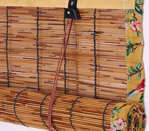cur000tain Reed Vorhang, Bambus Rollo, Türvorhang Strohvorhang, Sonnenschirm, Sonnenrollo Aussen, Wohnzimmer/Teestube/Laden, Größe Kann Besonders Angefertigt Werden, mit Haken