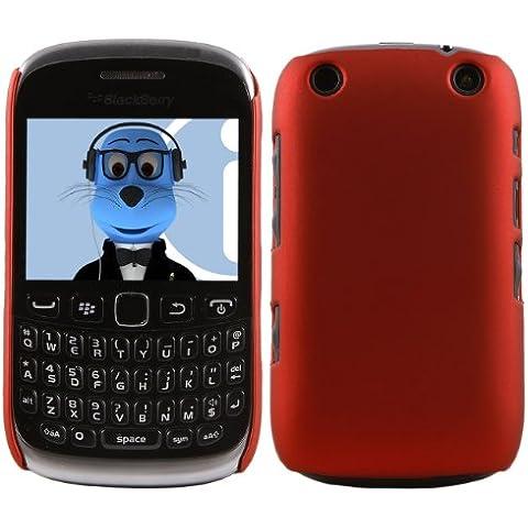 iTALKonline BlackBerry 9315 Curve ROSSO Difficile Saluto dura della cassa della pelle Soft Grip Slim