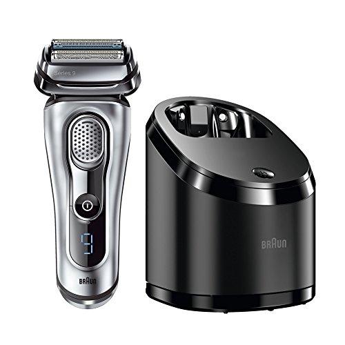 Braun Series 9 9090cc elektrischer Rasierer / Rasierapparat (mit Reinigungsstation (Clean und Charge), 2 Reinigungskartuschen, Elektrorasierer einsetzbar als Trockenrasierer und Nassrasierer), silber