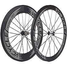 VCYCLE Nopea Carbono Ruedas de Bicicleta de Carretera 700C Tubular Delantero 50mm Posterior 88mm Shimano o Sram 8/9/10/11 Velocidades