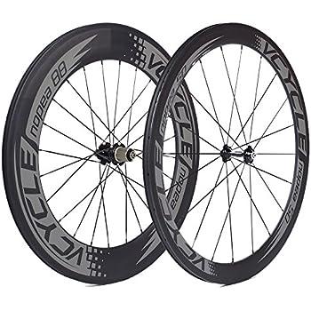 VCYCLE Nopea Carbono Ruedas de Bicicleta de Carretera 700C Tubular Delantero 50mm Posterior 88mm Shimano o