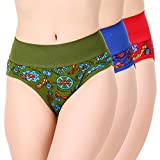 #1: Masha Women Printed Multicolor Bikini Panties