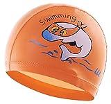 Kinderbademütze Wasserdicht Rutschbademütze orange