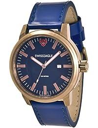 Swiss Eagle Analog Blue Dial Men's Watch - SE-9107-02