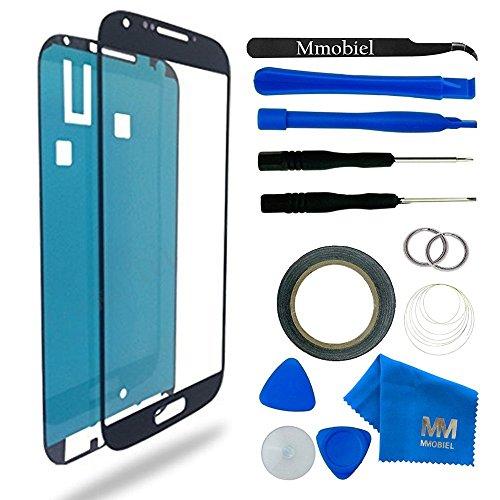 MMOBIEL Kit de Reemplazo de Pantalla Táctil para Samsung Galaxy S4 i9500 i9505 Series (Negro) incluye Kit de Herramientas de 11 piezas con etiqueta precortada / Limpiador de microfibra / alambre Metálico
