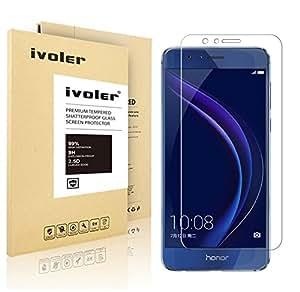 Huawei Honor 8 Pellicola Protettiva, iVoler® Pellicola Protettiva in Vetro Temperato per Huawei Honor 8 - Vetro con Durezza 9H, Spessore di 0,2 mm,Bordi Arrotondati da 2,5D-Shockproof, Trasparenza ad alta definizione, Facile da installare- Garanzia a vita