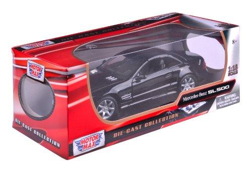 Preisvergleich Produktbild Richmond Toys 1: 18Mercedes-Benz SL500Druckguss Sammler Modell Auto (schwarz)