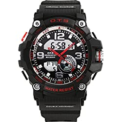 Men moving large dial/SimpleledDigital Watches/ men's waterproof watch-C