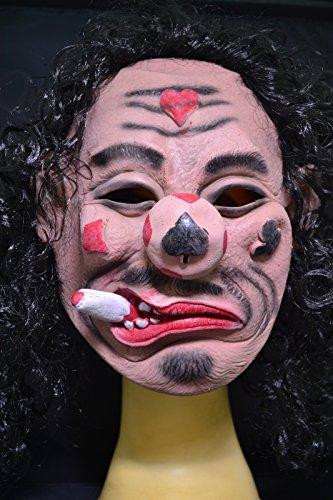 Smartfox Halloween Latex Maske - Poker (Kostüme Poker)