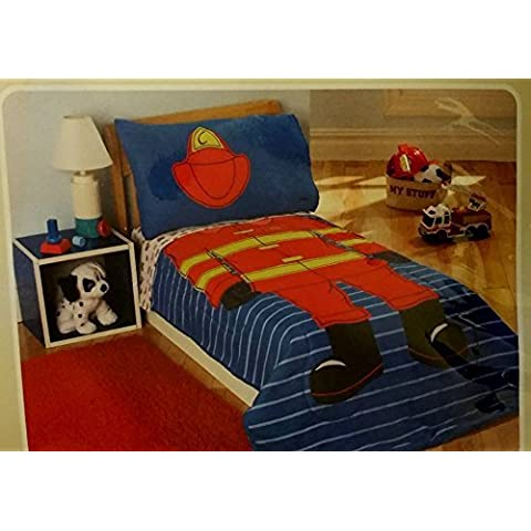 Child of Mine by Carter's Fireman 4-Piece Toddler Bedding Set