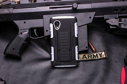 Cocomii Robot Armor LG Nexus 5 Funda [Robusto] Superior Funda Clip para Cinturón Soporte Antichoque Caja [Militar Defensor] Cuerpo Completo Sólido Case Carcasa for LG Nexus 5 (R.White)