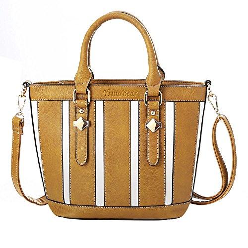 YsinoBear Frauen Handtasche klassischen Schultertasche Retro Laides Tote Umhängetasche mit verstellbaren Armband (Klassische Bag Hobo)