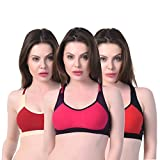 #10: Alazne Casual Daily Wear Sports Bra for Girl's and Women's Combo (Pack of 3)