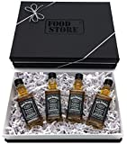 Jack Daniels Tennessee Whiskey 40% 4x50ml Flaschen als Geschenkpaket in edlem Karton - optimal z.B. als Partygeschenk