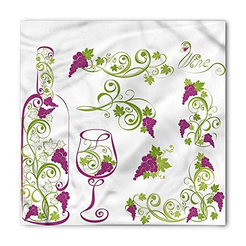 Soefipok Wein Bandana, Flasche Glas Grapevines, Unisex Kopf und Krawatte Stirnband Kopf wickeln