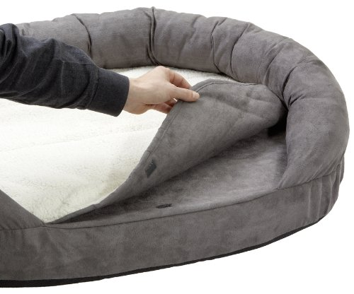 Karlie Hundebett Ortho Bed Oval, grau, 118 x 72 x 24 cm - 4