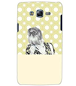 PrintDhaba CRYING GIRL D-7091 Back Case Cover for SAMSUNG GALAXY ON5 (Multi-Coloured)