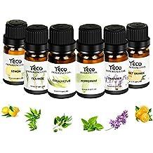 Set de aceites esenciales de aromaterapia, yeco 100% puro natural de grado terapéutico esencial Set de regalo y kit (paquete de 6, 10 ml, lavanda, ...